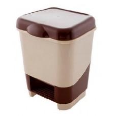 ПОЛИМЕРБЫТ Контейнер педальный для мусора 8л (42700) (2)