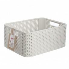 CURVER 03615-885 RATTAN STYLE BOX M корзина кремовая (2)