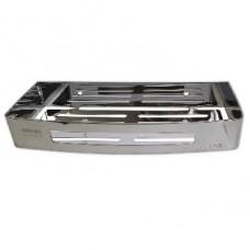 BRIMIX 5655 Полочка литая прямоугольная одинарная из нержавеющей стали