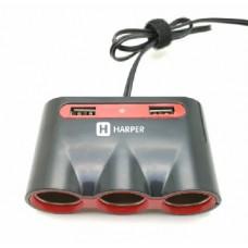 HARPER DP-330 разветвитель на 3 выхода + 2 USB