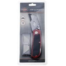 AUTOVIRAZH (AV-900901) Нож трапецивидный с лезвиями 5шт AV Steel