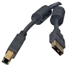 5BITES UC5010-018A EXPRESS USB2.0 / AM-BM / FERRITES / 1.8M / BLACK