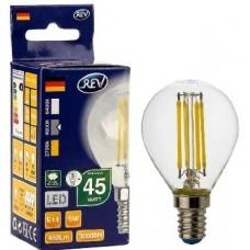 REV (32358) 7 FILAMENT шарик G45 E14 5W 4000К DECO PREMIUM холодный свет