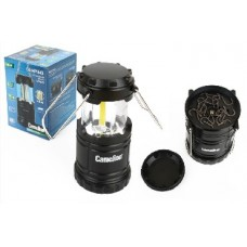 CAMELION LED5632 (фонарь для кемпинга 3XR03, черный, 3X COB LED, пласт. кор.)