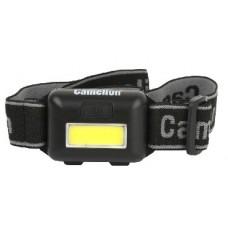 CAMELION LED5355 (фонарь налобн, черн.,1Вт COB LED, 3 реж, 3XAAA, пласт, блист)