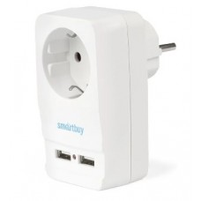 SMARTBUY (SBE-16-A05-USB) адаптер - розетка, 2 USB