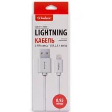 BELSIS (BS3015) Кабель Lightning - USB А, белый, 0.95 м,