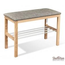 SHEFFILTON Банкетка Альберо SHT-B2 прозрачный лак/кедровый/алюм.метал