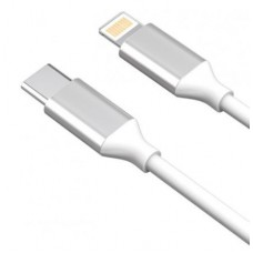 AKAI CBL214W Дата-кабель TYPE-C - Lightning 2А 1М круглый белый