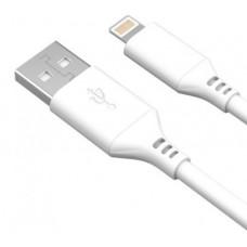 AKAI CBL404W Дата-кабель USB - Lightning (MFI) 2А 1М круглый белый