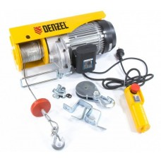 DENZEL 52016 Тельфер электрический TF-1000, 1 т, 1600 Вт, высота 12 м, 8 м/мин