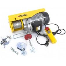 DENZEL 52018 Тельфер электрический TF-1200, 1.2 т, 1800 Вт, высота 12 м, 8 м/мин